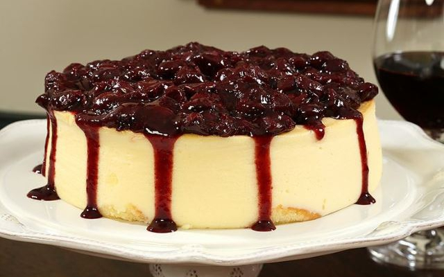 cheesecake με βύσσινα